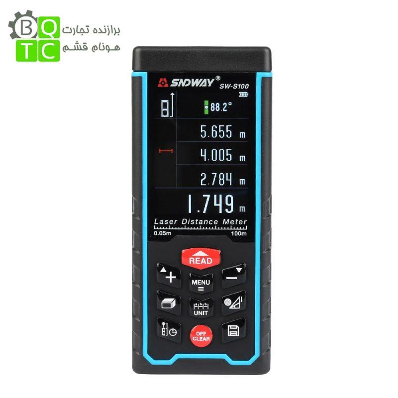 متر لیزری دیجیتال مدل SW-100 کمپانی SNDWAY